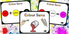 Colour Mixing Sums PowerPoint