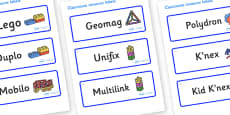 Snowflake Themed Editable Construction Area Resource Labels