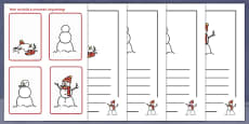 How We Build a Snowman Activity Sequencing Cards