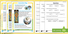 KS1 Ascension Day Differentiated Reading Comprehension Activity