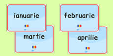 Months of the Year Signs Romanian