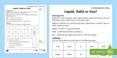 Solid Liquid Gas Activity