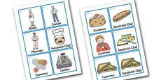 Sandwich Shop Role Play Badges