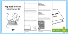 * NEW * Interactive Book Review Writing Template English/German