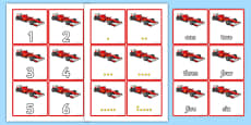 Racing Car Sorting Cards