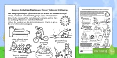 Summer Holiday Challenges English/Afrikaans