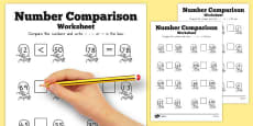 Rapunzel Number Comparison Worksheets