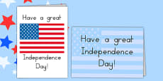 Independence Day Greetings Card Template