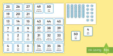 * NEW * Place Value Dienes Activity Arabic/English