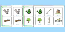 Matching Cards and Board to Support Teaching on Percy the Park Keeper