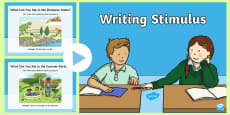 * NEW * Writing Stimulus PowerPoint