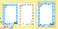 Editable Easter Card Insert Template