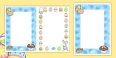 Editable Easter Card Insert Template