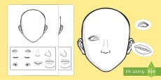 Blank Faces Cut and Stick Activity