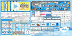 PlanIt - Computing Year 1 - Word Processing Skills Unit Pack