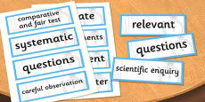 LKS2 Working Scientifically Scientific Vocabulary Cards