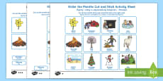 Months of the Year Cut and Stick Activity Sheet English/Polish