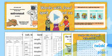 PlanIt Y4 Term 1A W1: 'au' and 'augh' Words Spelling Pack