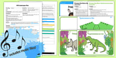EYFS Dance Like a Dinosaur Adult Input Plan and Resource Pack