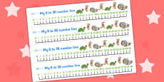 The Tortoise and The Hare Number Lines 0-30