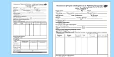 EAL Initial Pupil Profile Form EAL Urdu