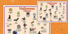 Halloween Word Mat Polish Translation
