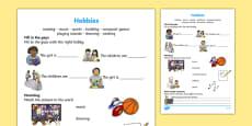 Hobbies Activity Sheet