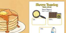 Shrove Tuesday Event Writing Report Polish Translation