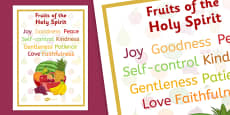 Fruits of the Holy Spirit Display Posters