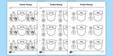 Pocket Money Activity Sheet Pack