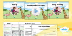 PlanIt Y1 Animals: to Support Teaching on Dear Zoo WriteIt Pack