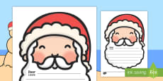 Letter To Santa Writing Template English/Afrikaans
