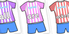 Tricky Words on Football Strip