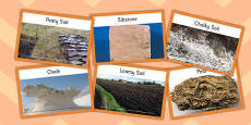 Rocks and Soils Matching Cards