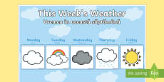 * NEW * Weekly Weather Recording Chart English/Romanian