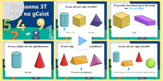 3D Shapes Quiz Warm Up and Revision   Gaeilge Ulster PowerPoint - Gaeilge