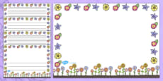 Landscape Mother's Day Page Borders