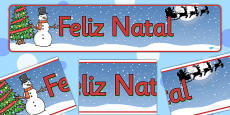 Christmas Display Banner (Portuguese)