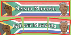 Nelson Mandela Display Banner