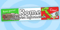 Rome Tourist Information Role Play Banner