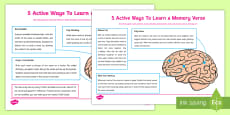 * NEW * Five Fun Ways to Learn a Bible Memory Verse KS1 Top Tips