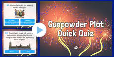 Gunpowder Plot Quiz PowerPoint