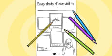Our Visit to... Snapshot Writing Frame