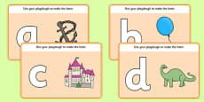 A to Z Alphabet Playdough Mat