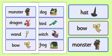 Word Cards to Support Teaching on Room on the Broom
