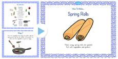 Australia - Crispy Spring Rolls Recipe PowerPoint