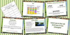 United Kingdom Land Use Lesson Teaching Pack