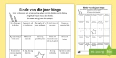 Einde van die jaar bingo aktiwiteitsbad