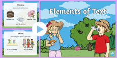 Elements of Text PowerPoint