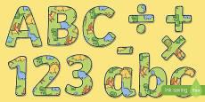 Cute Dinosaur Themed Display Lettering